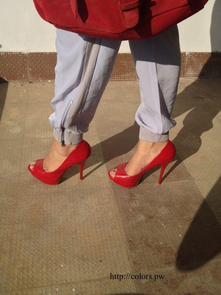 Red Peep-toes: Aldo