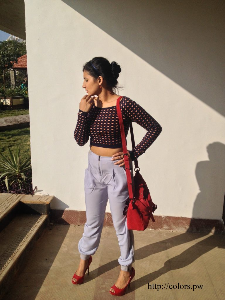 The cropped sweater