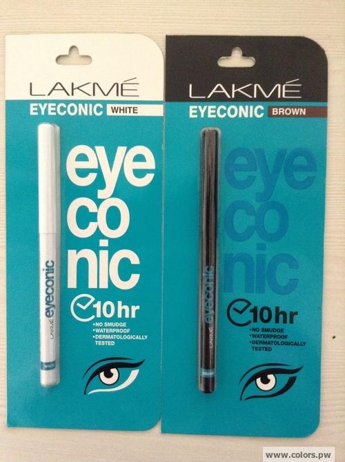 Lakme Eyeconic White (L) Lakme Eyeconic Brown (R)