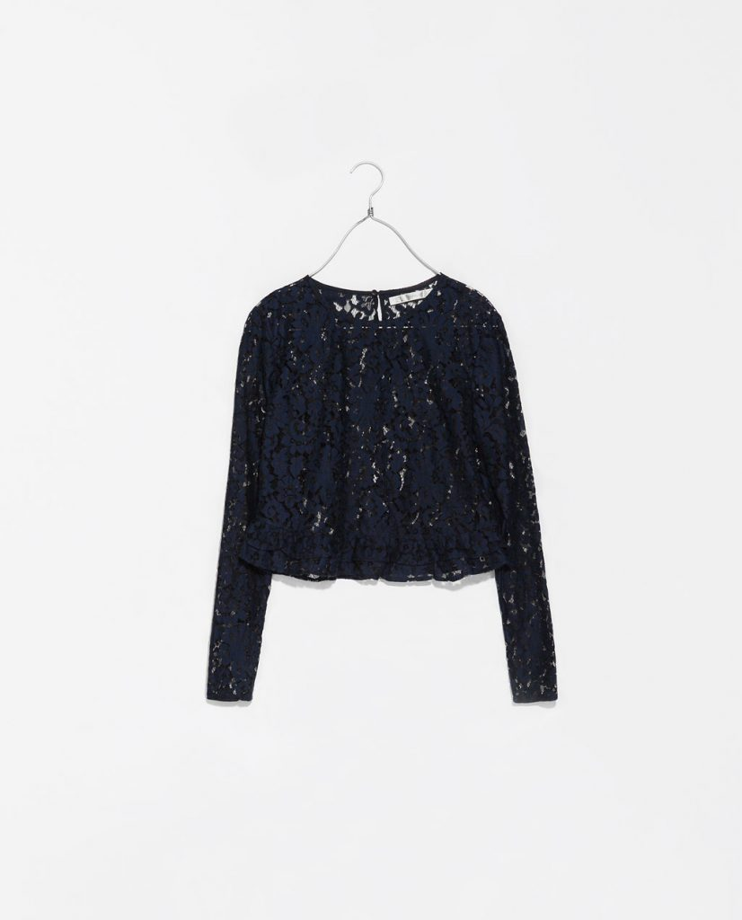 Embroidered Lingerie Top: Zara