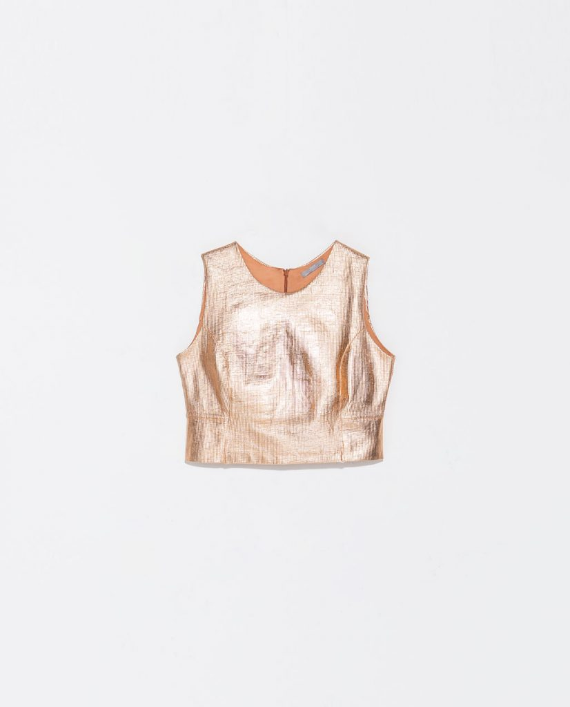 Cropped Top: High Shine champagne
