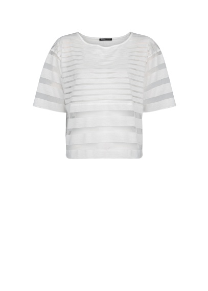 Transparent Striped T-shirt: Mango