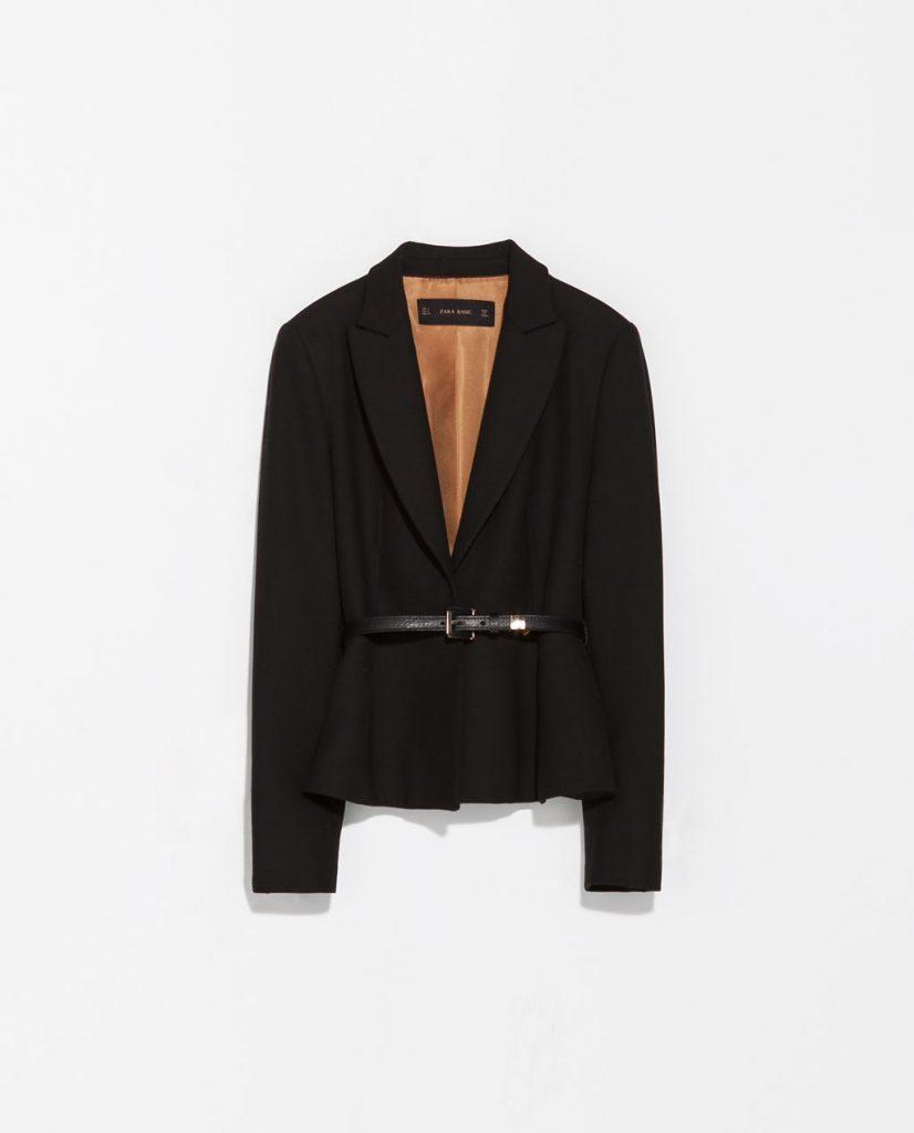 Short Blazer With Belt: Zara