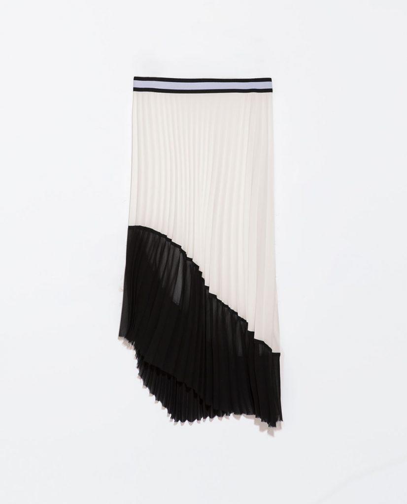 Monochrome Pleats skirt: Zara Monochrome pleats  ♥ must have!