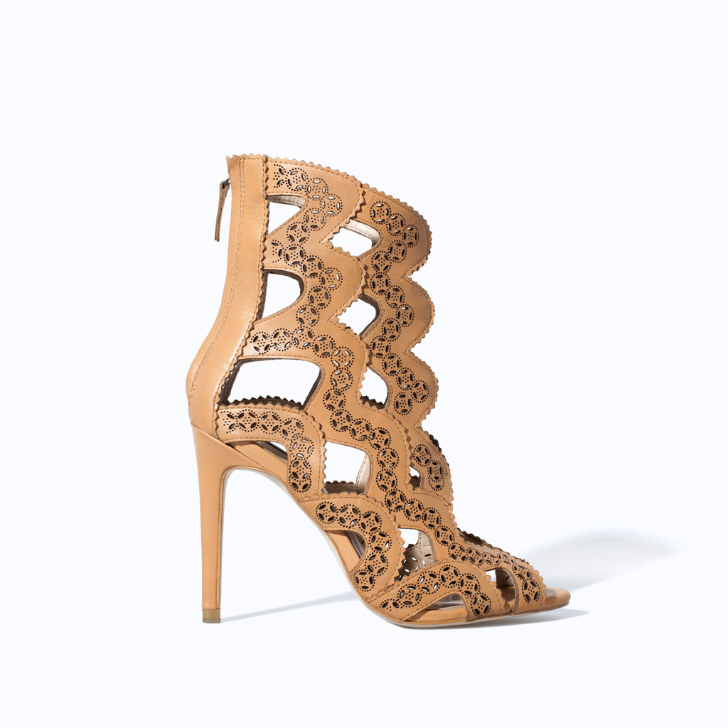 High Heel Ankle Boot Sandal: Zara Too Pretty to ignore, made me fall in love all over again!