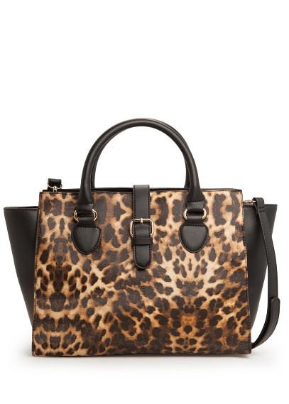 Leopard Print City Handbag: Mango