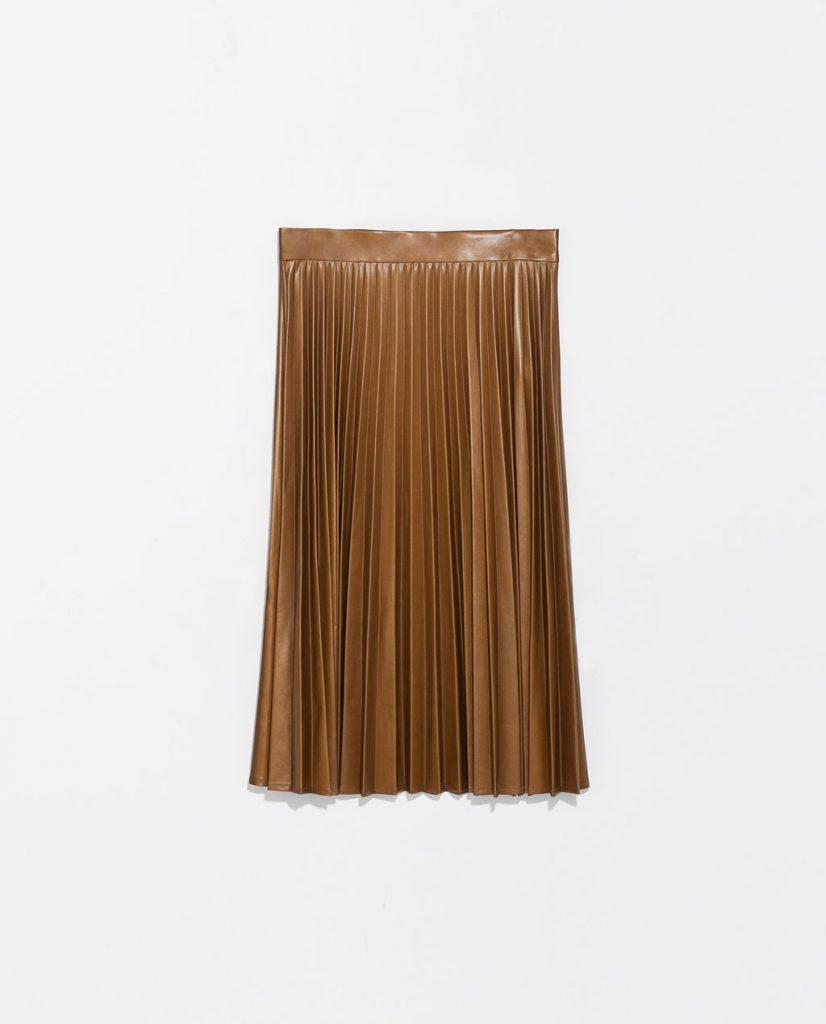 Accordion Pleat Skirt: Zara