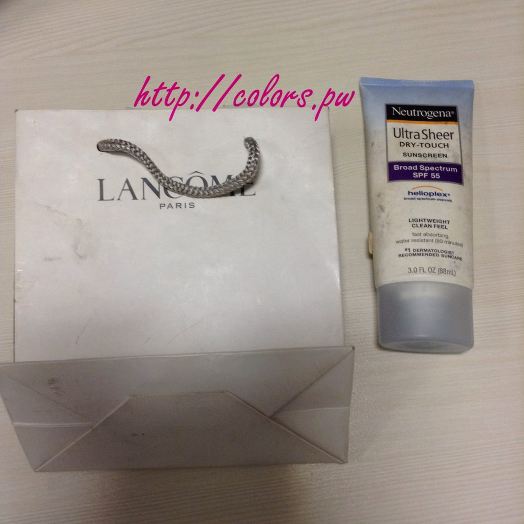 Lancome and Neutrogena Sunscreen